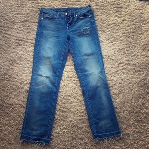High-rise straight leg jeans with fun details
